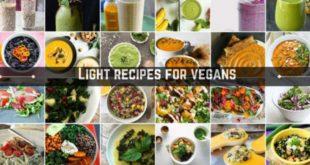 Light recipes for vegans